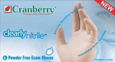 Clearly Nitrile Powder Free Exam Gloves