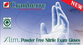 Cranberry Xlim Nitrile Powder Free Exam Gloves